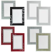 Glas Bilderrahmen rahmenloser Bilderhalter Portrait Rahmen Hinstellen 2-er Set