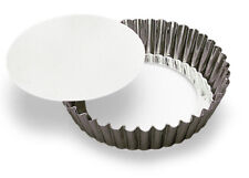 """Gobel Round Fluted Tart Quiche Pan with Loose Removable Bottom, 4"""" x 1-1/8"""" H."""
