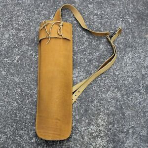 Traditional Archery Back Quiver Pure Leather Arrow Quiver Compound Recurve, NEW