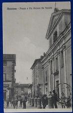 MANZANA Piazza e via De Sanctis animata viaggiata 1915  f/p #20622