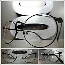 Men's VINTAGE 50's RETRO Style Clear Lens EYE GLASSES Small Black Fashion Frame
