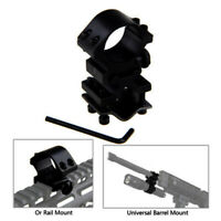 Tactical Flashlight Barrel Scope Mount with 20mm Weaver Picatinny Rail