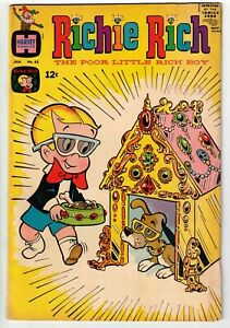 RICHIE RICH THE POOR LITTLE RICH BOY #65 1968 HARVEY SILVER AGE!