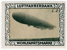 (I. B) Allemagne Cendrillon: Zeppelin Charity stamp (type L2)