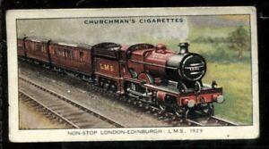 Tobacco Card, Churchman, LANDMARKS IN RAILWAY PROGRESS,1931,London,Edinburgh,#48