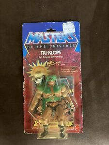 1982-83 Masters of the Universe Tri Clops MOC With Warrior Ring NIB