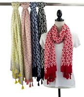 StylesILove Women Floral Print Tassels Lightweight Shawl Wrap Scarf, 5 Colors