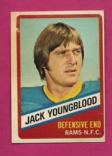 1976 TOPPS # 14 RAMS JACK YOUNGBLOOD  WONDER BREAD GOOD CARD (INV# A3009)