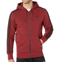 adidas Mens Essentials 3 Stripes Fleece Hoodie DY3170