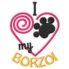 """I """"Heart"""" My Borzoi Fleece Jacket 1313-2 Size S - Xxl"""