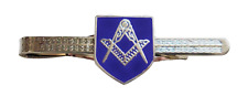 Square & Compasses Shield Masonic Freemasonry Tie-Slide