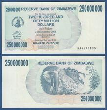 SIMBABWE / ZIMBABWE 250.000.000 Dollars 2008  UNC  P.59