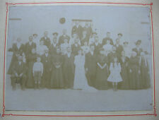 Photographie ancienne Mariage vers 1900 mode costume femmes avec coiffes