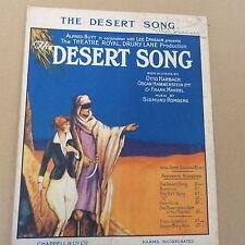 songsheet DESERT SONG Sigmund Romberg, 1926