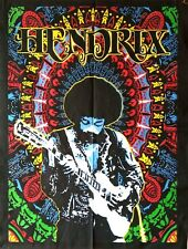 Black Color Wall Hanging Cotton Poster Tapestry Jimi Hendrix Guitar Singer Art