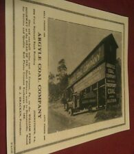 1930 Argyle Coal Co. Mine Tipple, Truck Johnstown Gallitzin Pa. Adv. Poster Repo
