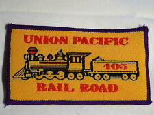 """Badge Ecusson Tissu à Coudre """"Union Pacific Rail Road 405"""" Années 1970"""