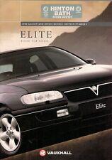 Vauxhall Omega Elite 1995-96 UK Market Sales Brochure 3.0i V6 24v 2.5 TD