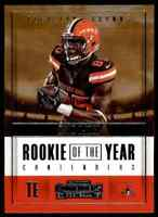 2017 PANINI CONTENDERS ROOKIE OF THE YEAR DAVID NJOKU BROWNS #RY-28 INSERT