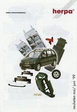 Herpa Automodelle Prospekt Neuheiten 5 6 1999 Modellautos Auto Miniaturen