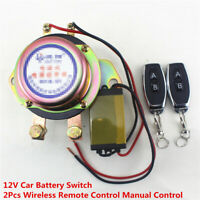 12V Car Battery Switch Wireless Remote Control Disconnect Latching Relay Copper