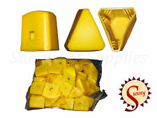 40 x Star Picket Post Cap Fence Steel Pole Fencing Farming Tool Yellow Bne