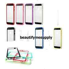 10PCS New Clear Colors Frame Hard Rubber TPU Bumper Case For Apple iPhone 5