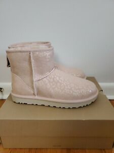 Ugg Women's CLASSIC MINI SNOW LEOPARD QUARTZ Size US 8