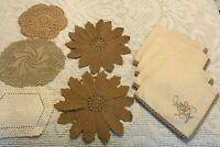 Vintage Antique Hand Crocheted Doily Pots Holder Hot Mats Unused Lot