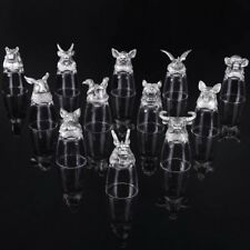 Animal Head Zodiac Shot Glasses/ Farther Gift/fathers Love It!/ Box Of 12🍺