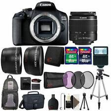 Canon EOS 2000D 24.1MP DSLR Camera + 18-55mm lens + 24GB Accessory Bundle