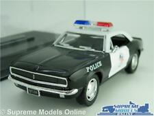 CHEVROLET CAMARO Z-28 POLICE MODEL CAR 1:37 SCALE KINSMART + DISPLAY CASE USA K8