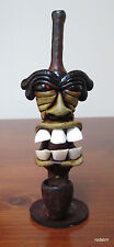 Collectible Teeth Face Guy Tobacco Pipe Handmade and Painted Smoking