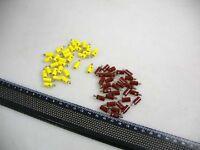60 Stecker gelb/braun z.B. für Faller H0/N Lampen #G4