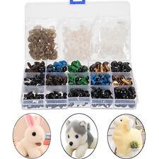 264x 6-12mm Black Colorful Thread Eyes For Teddy Bear Doll Felting Animals Toy