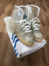 Adidas Jeremy Scott wing Transparent trainers with wings Size 8 UK