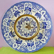 RARE faience horloge pendule VIEILLARD BORDEAUX modèle VOLUBILIS 1850