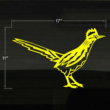 "Roadrunner Road Runner New Mexico Bird Large 17x11"" YELLOW Decal Sticker"