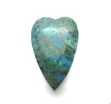 Anhänger Edelsteine Herz Natur Chrysokoll gebohrt glatt grün blau 40x26x17mm