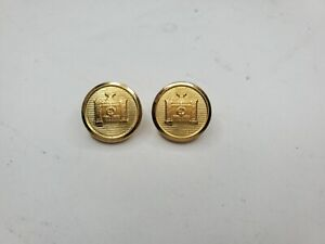 Brooks Brothers Castle Gate Gold Tone Metal Blazer Replacement Waterbury Buttons