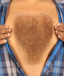 HPO Men's Human Hair Chest Hair For Cosplay Multiple Color Option M-1292
