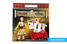 Pirate Girl Stencil Art Portfolio Kids Fashion Design Sketch Sticker Collection