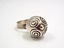 Vintage 1968 Kalevala Koru Finland Sterling Silver Modernist Dome Ball Ring sz 7