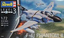 MODERN ERA USA NAVY F-4J PHANTOM II REVELL 1:72 SCALE PLASTIC MODEL AIRPLANE KIT
