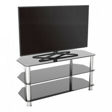 "TV Stand Modern Black Glass Unit up to 50"" inch HD LCD LED Curved TVs - 100cm"