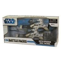 Star Wars Action Figure Set -Battle Packs -HOTH SPEEDER BIKE PATROL (2 Troopers+