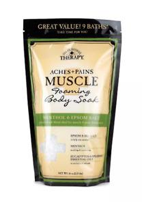 Village Naturals Therapy Aches Pains Muscle Foaming Body Bath Soak 36 oz menthol