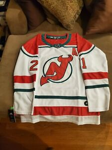 2021 BNWT NEW JERSEY DEVILS WHITE/RED/GREEN #21 KYLE PALMIERI JERSEY (SZ.52)
