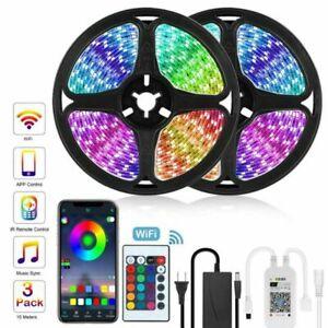 12V LED Lights Strip RGB 5050 2835 5M 10M Diode Tape with WiFi Remote LED Light