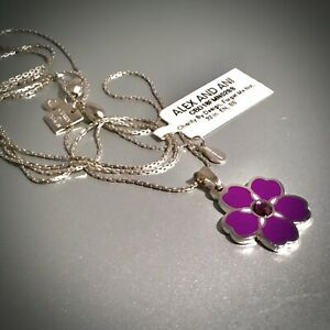 Armenian Flower Jewelry Necklace Alex & Ani Shiny Silver NWT